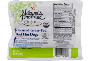 Nature's Promise Organic Uncured Grass-Fed Hot Dogs Beef