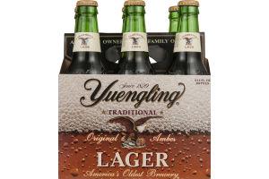 Yuengling Lager Beer Bottles - 6 CT