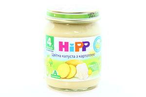 Пюре для детей от 4мес Цветная капуста с картофелем Hipp с/б 125г
