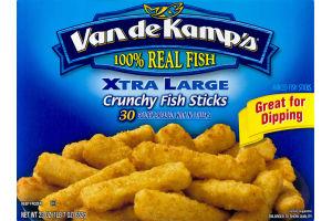 Van de Kamp's Xtra Large Crunchy Fish Sticks - 30 CT
