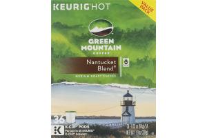 Green Mountain Medium Roast K-Cup Pods Nantucket Blend - 36 CT