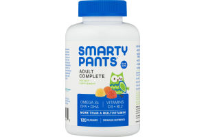 SmartyPants Adult Complete Multivitamin Gummies - 120 CT