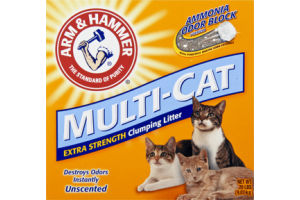 Arm & Hammer Multi-Cat Extra Strength Unscented Clumping Litter