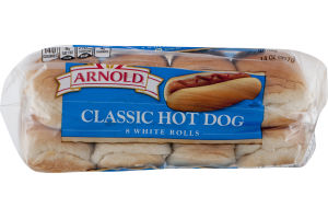 Arnold Select Classic Hot Dog Rolls - 8 CT
