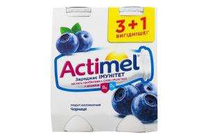 Продукт кисломолочный 1.5% Черника Actimel к/у 4х100г