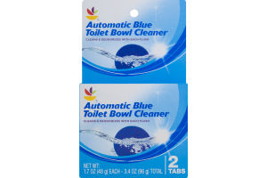 Ahold Automatic Blue Toilet Bowl Cleaner Tabs - 2 CT