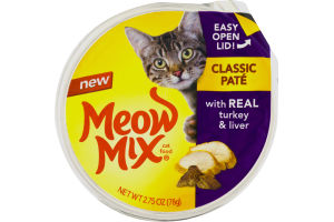 Meow Mix Cat Food Classic Pate Real Turkey & Liver