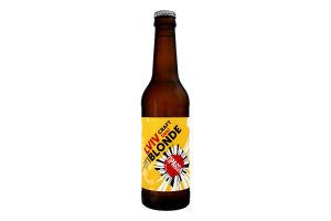 Пиво 0.33л 3.5% світле нефільтроване непастеризоване Hoppy Blonde Правда пл