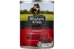 Whiskers & Tails With Beef Cuts In Gravy For Dogs