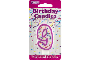 Culpitt Birthday Candles Numeral Candle 9