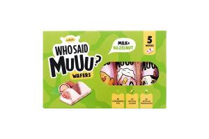 Вафли с молочно-ореховой начинкой Who said Muuu? АВК 5х11.6г