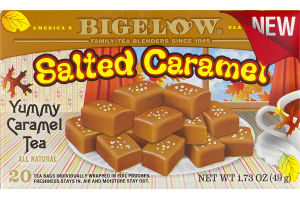 Bigelow Yummy Caramel Tea Bags Salted Caramel - 20 CT