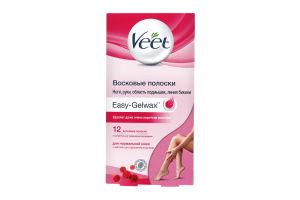 Полоски восковые для депиляции нормальной кожи Veet 12шт