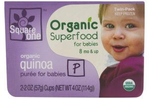 Square One Organic Superfood for Babies Organic Quinoa Puree - 2 PK