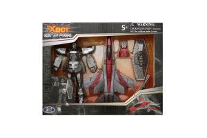 Набір ігровий X-bot Робот-трансформер літак воїн 15 см 82020R