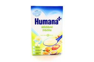 Каша Humana молочна кукурудзяно-рисова фруктова 250г х5