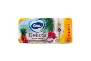 Папір туалетний Tropical Dreams Deluxe Zewa 16шт