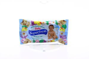 Салфетки влажные baby Superfresh 15шт