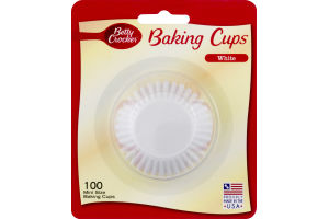 Betty Crocker Mini Size Baking Cups White - 100 CT