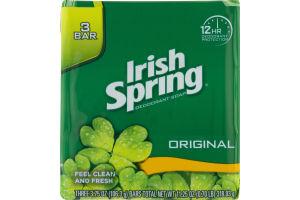 Irish Spring Deodorant Soap Original - 3 CT