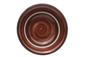 Тарелка коричневая 17см D-002