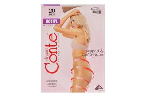Колготки женские Conte Active 20den 5-XL natural
