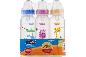 Evenflo Classic Zoo Friends Bottles 0-3m - 3 CT