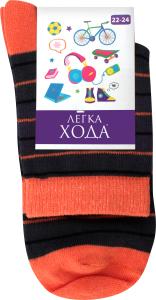 Шкарпетки дитячі Легка хода №9215 22-24 темно-сірі-помаранчеві