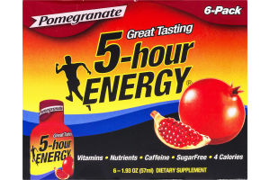 5-Hour Energy Dietary Supplement Pomegranate - 6 CT