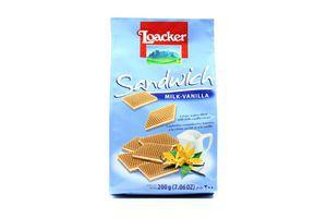 Вафли с молочно-ванильной начинкой Loacker 200г