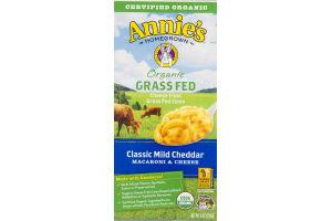 Annie's Organic Grass Fed Macaroni & Cheese Classic Mild Cheddar