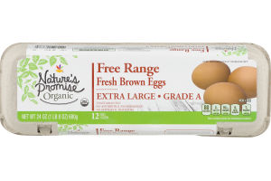 Nature's Promise Organic Free Range Fresh Brown Eggs Extra Large Grade A - 12 CT