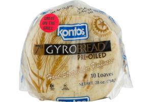 Kontos Gyro Bread Pre-Oiled - 10 CT