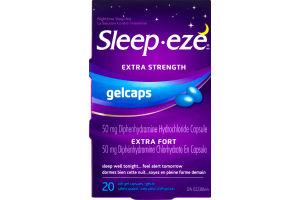 (CN) Sleep-eze Extra Strength Gelcaps Nighttime Sleep Aid - 20 CT, Sleep-eze Gelcaps Extra Fort La Solution Contre L'insomine - 20 CT