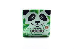 Салфетки столовые 24х24см зелёные Сніжна панда 100шт