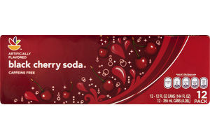 Ahold Soda Black Cherry - 12 CT