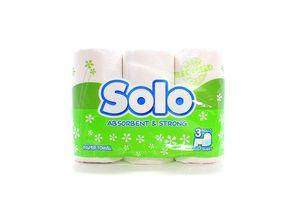 Полотенце кухонное бумажное 2 слой белый Solo 3 шт
