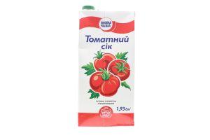 Сок Повна Чаша томатный с мякотью стерилизованный