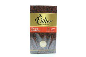 Чай черный Kenyan Breakfast Vilter к/у 25х2г