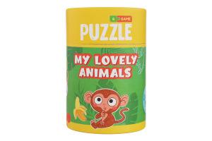 Пазл для дітей від 18міс №200104 Мої чарівні тваринки Mon Puzzle 1шт