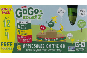 GoGo Squeez Applesauce On The Go Pouches Variety Pack - 16 CT