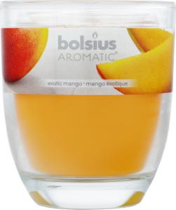 Свеча Арома Манго декоративный стакан 80/70мм