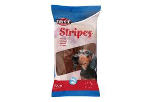 Лакомство для собак с говядиной Stripes Trixie м/у 100г
