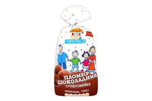 Морозиво 12% пломбір шоколадний Суперсімейка Геркулес м/у 1кг