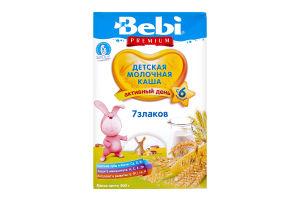 Каша молочная для детей от 6мес 7 злаков Premium Bebi к/у 200г