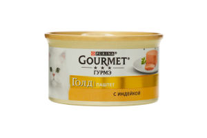 Корм для взрослых котов С индейкой Gold Gourmet 85г