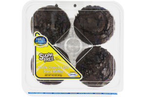 Hill & Valley Double Chocolate Chip Grand Muffins Sugar Free - 4 CT