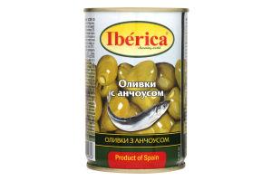 Оливки з аноусом Iberica ж/б 300г