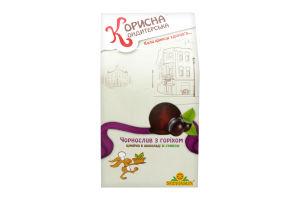 Цукерка глазурована шоколадом Чорнослив з горіхом Корисна Кондитерська к/у 150г