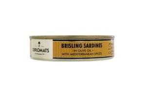 Сардини підкопчені в оливковій олії з середземноморськими спеціями Diplomats з/б 160г